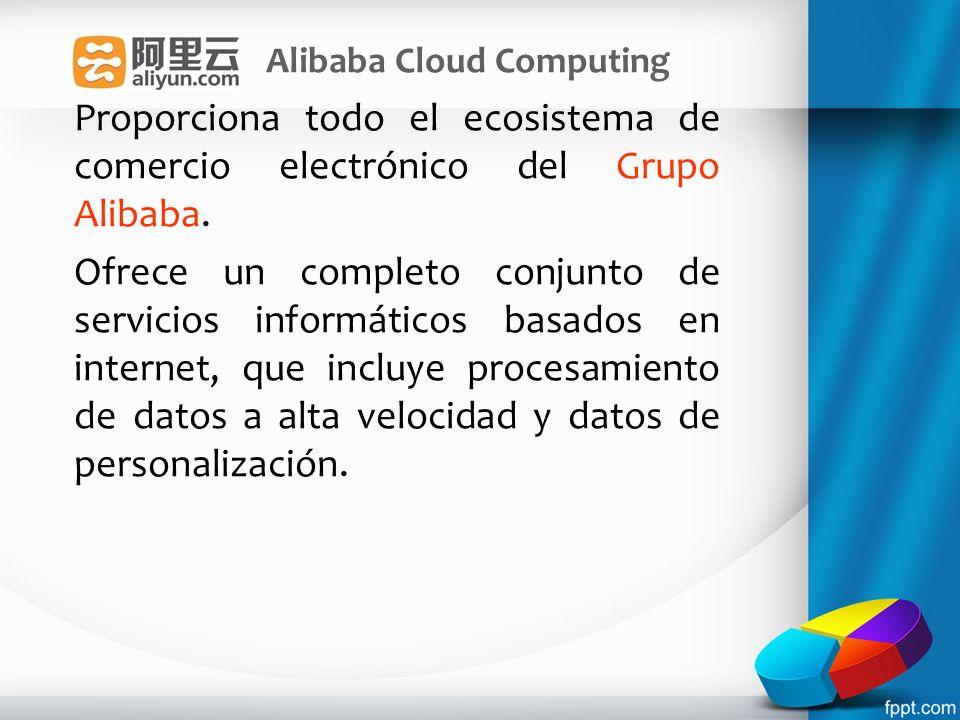 Alibaba Cloud Computing Proporciona todo el ecosistema de comercio electrónico del Grupo Alibaba. Ofrece un completo conjunto de servicios informático