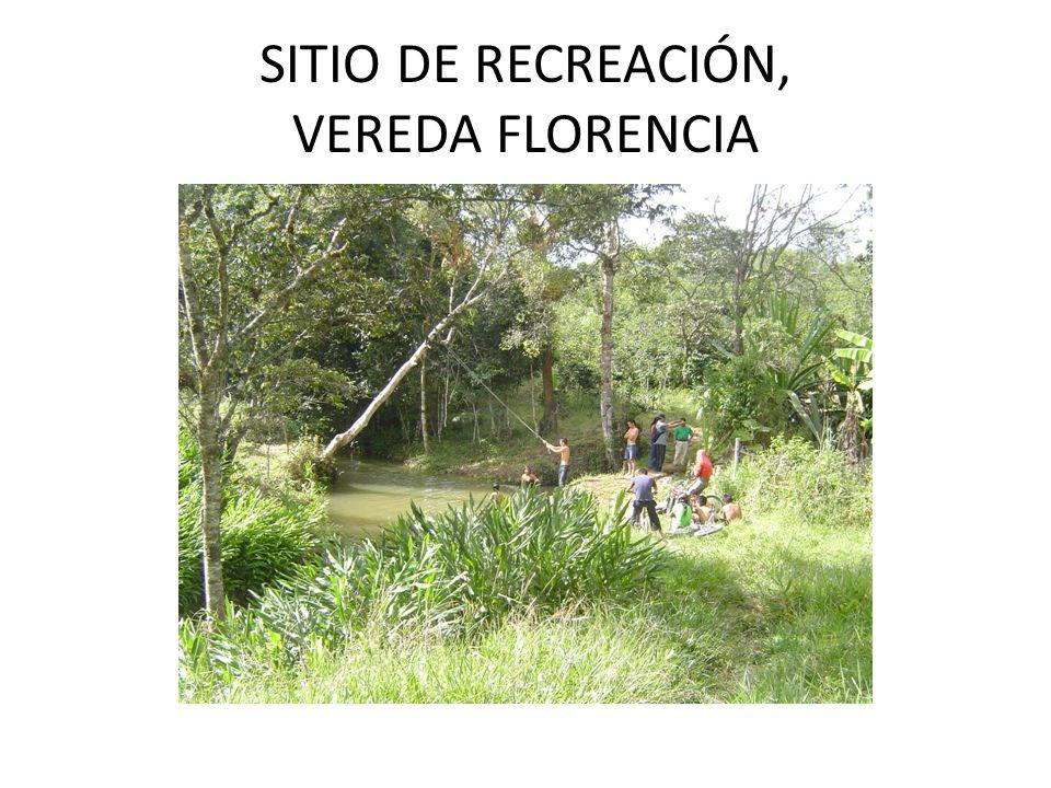SITIO DE RECREACIÓN, VEREDA FLORENCIA