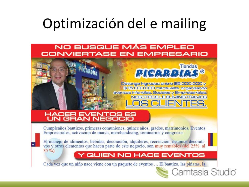 Optimización del e mailing