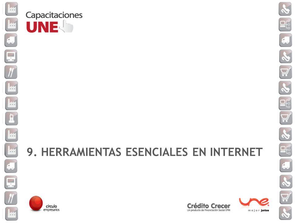 9. HERRAMIENTAS ESENCIALES EN INTERNET
