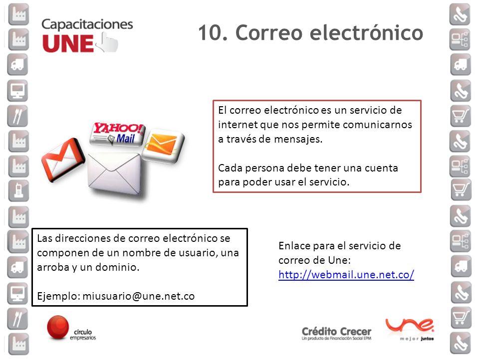 El correo electrónico es un servicio de internet que nos permite comunicarnos a través de mensajes. Cada persona debe tener una cuenta para poder usar