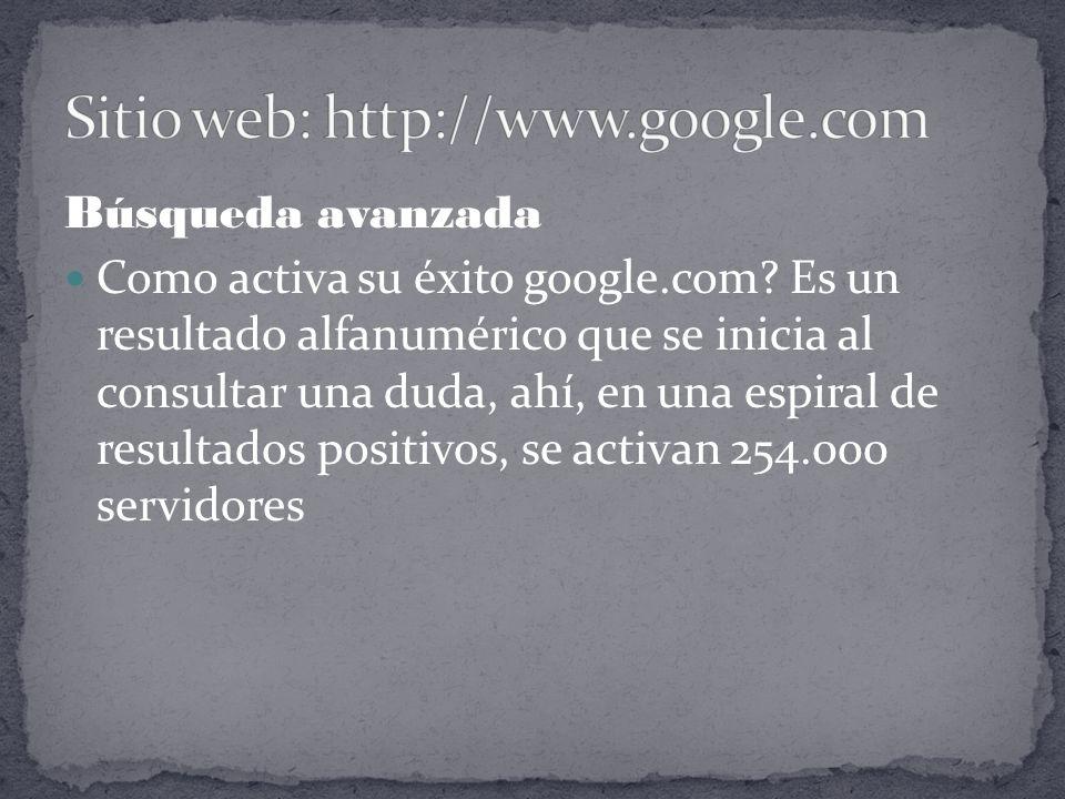 Búsqueda avanzada Como activa su éxito google.com.