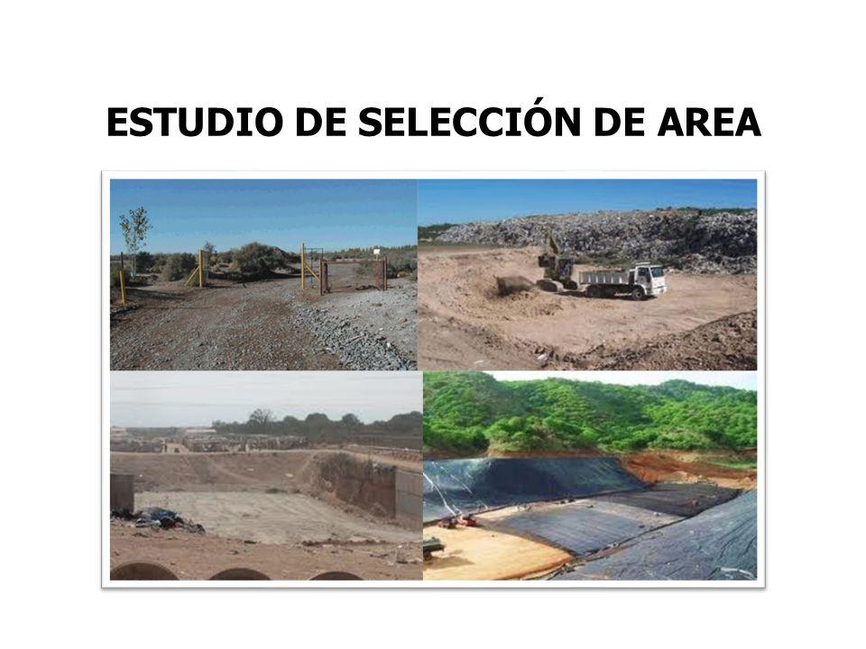 ESTUDIO DE SELECCIÓN DE AREA