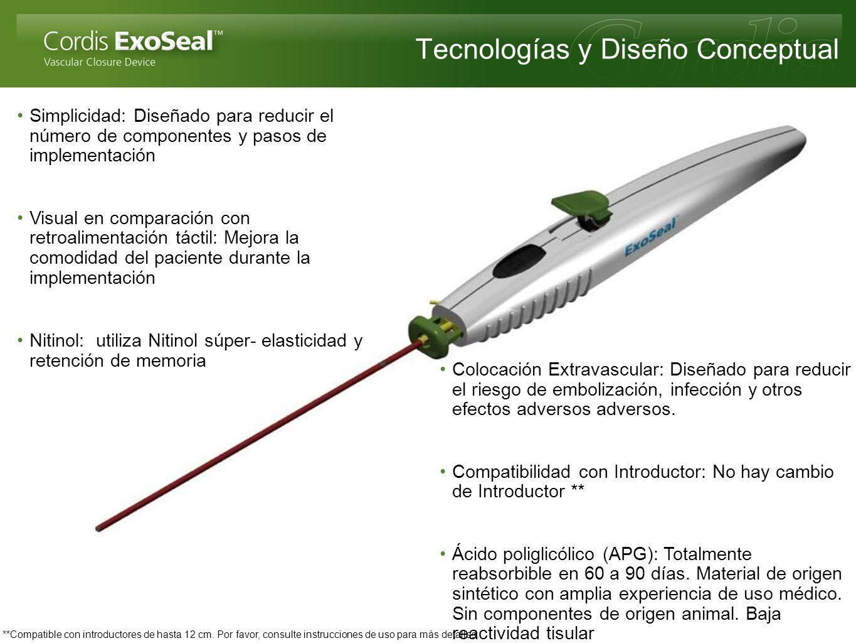 Tecnologías y Diseño Conceptual Simplicidad: Diseñado para reducir el número de componentes y pasos de implementación Visual en comparación con retroa
