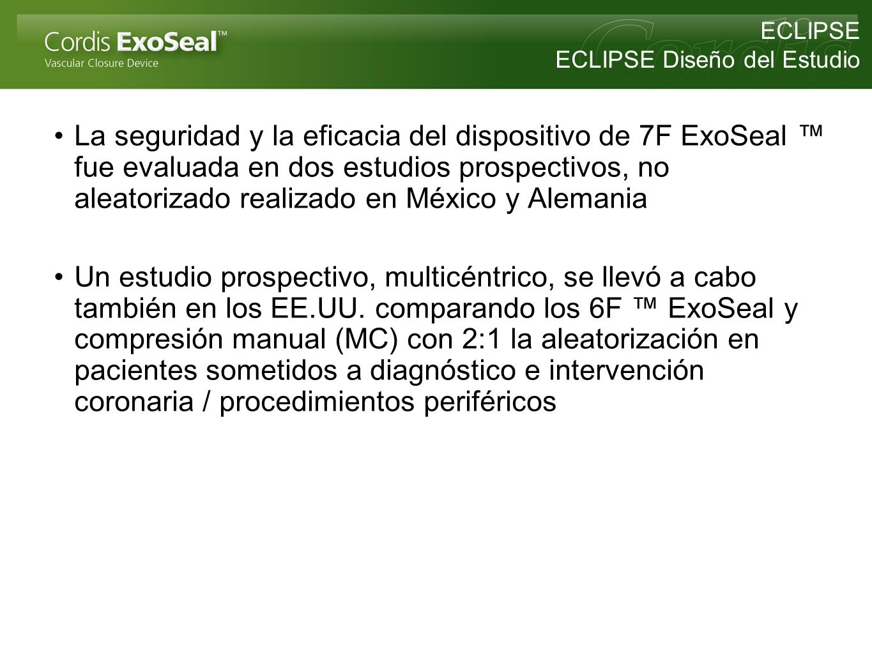 La seguridad y la eficacia del dispositivo de 7F ExoSeal fue evaluada en dos estudios prospectivos, no aleatorizado realizado en México y Alemania Un
