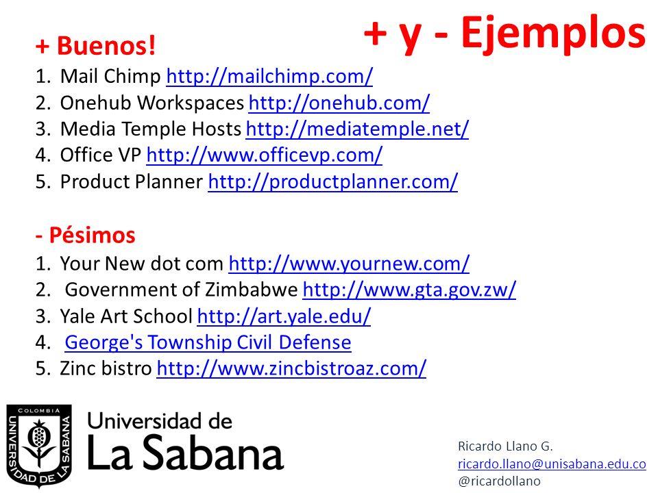+ y - Ejemplos + Buenos.