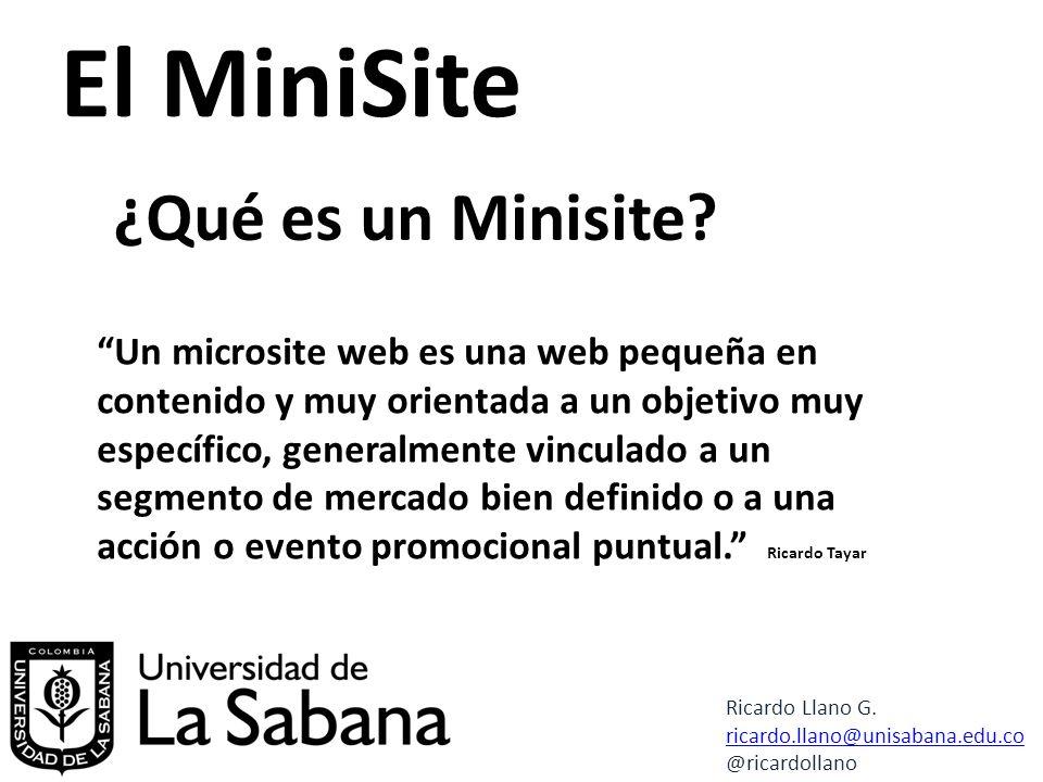 El MiniSite ¿Qué es un Minisite.