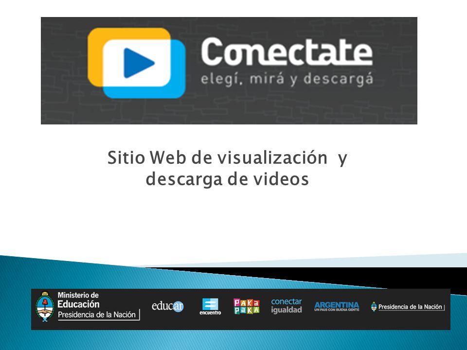 Sección Videos y descargas de la Web de Canal Encuentro: Intenso tráfico Requerimientos constates de mayor ancho de banda No se disponibilizaba todo el material
