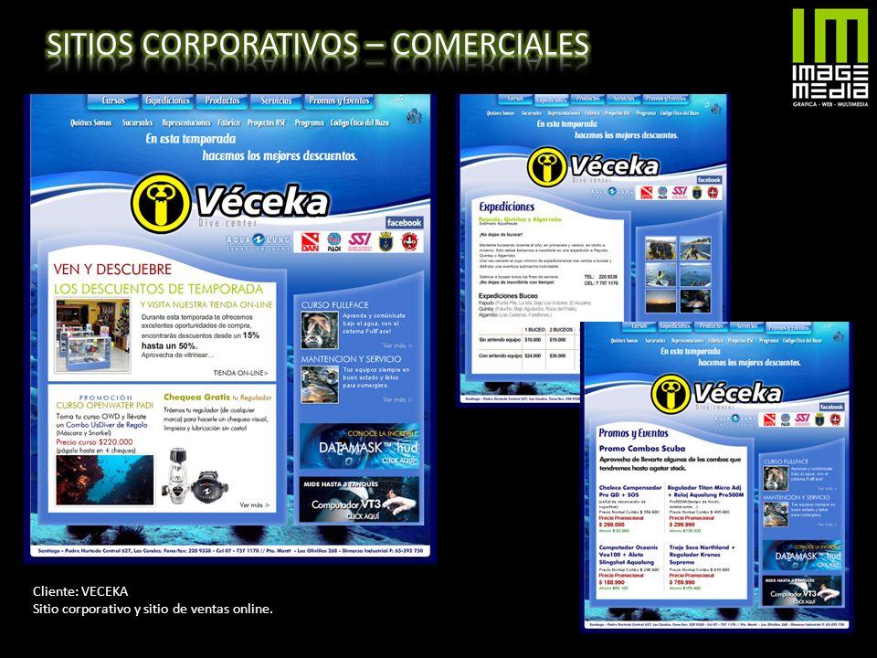 Cliente: VECEKA Sitio corporativo y sitio de ventas online.