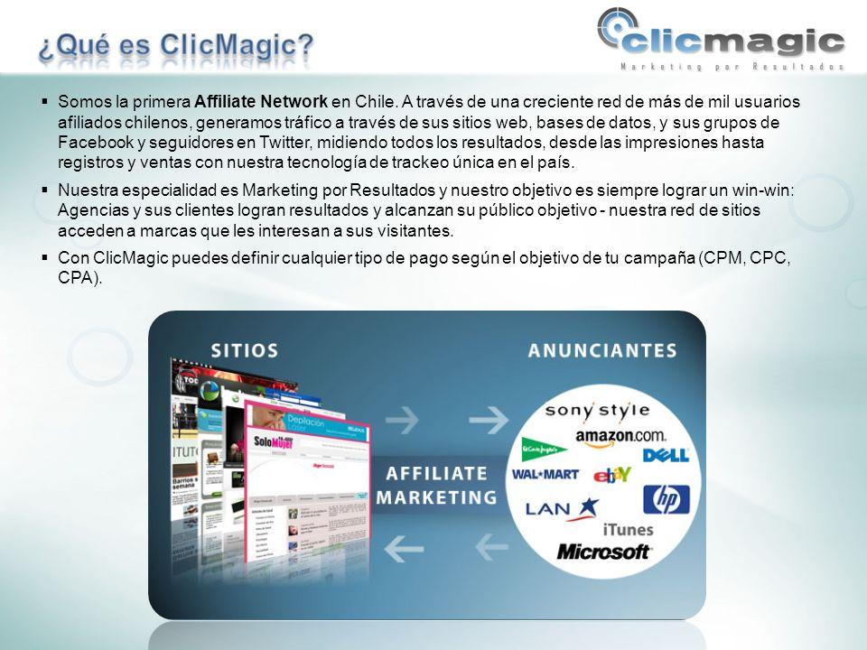 ClicMagic Affiliate Network, Apoquindo 6314 of. 1304, Las Condes. www.clicmagic.com