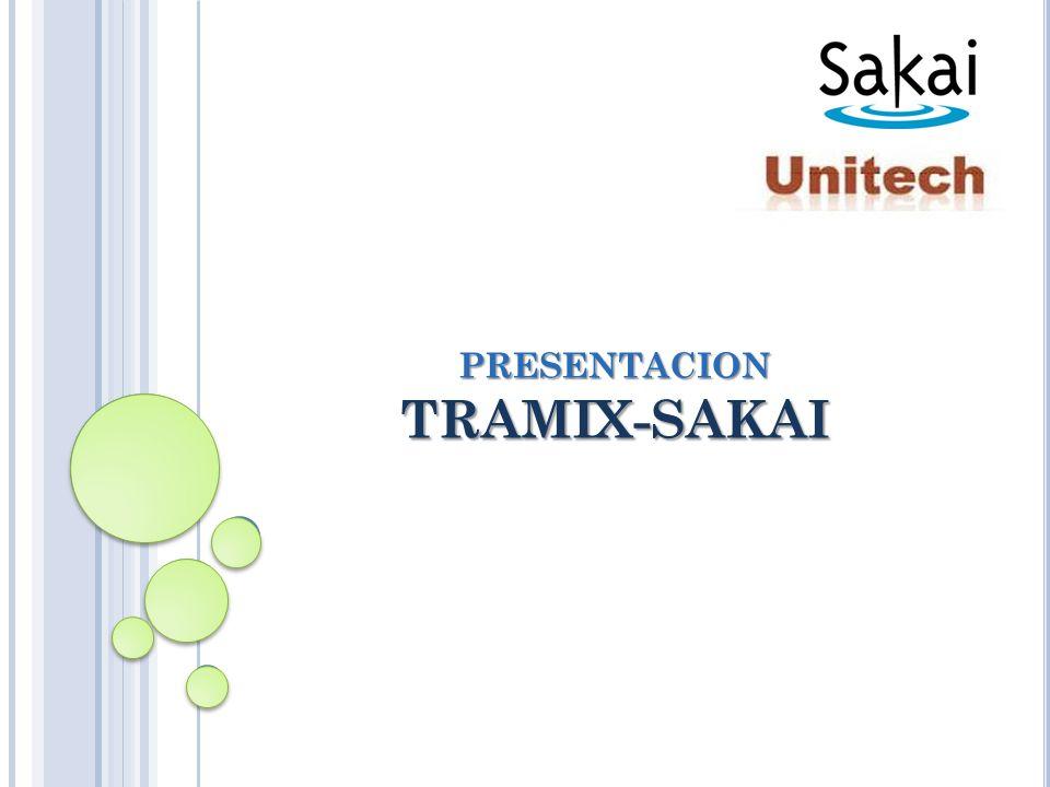 PRESENTACION TRAMIX-SAKAI