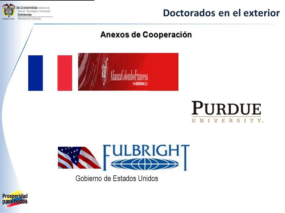 Doctorados en el exterior Anexos de Cooperación [1] Hora de Colombia. Gobierno de Estados Unidos