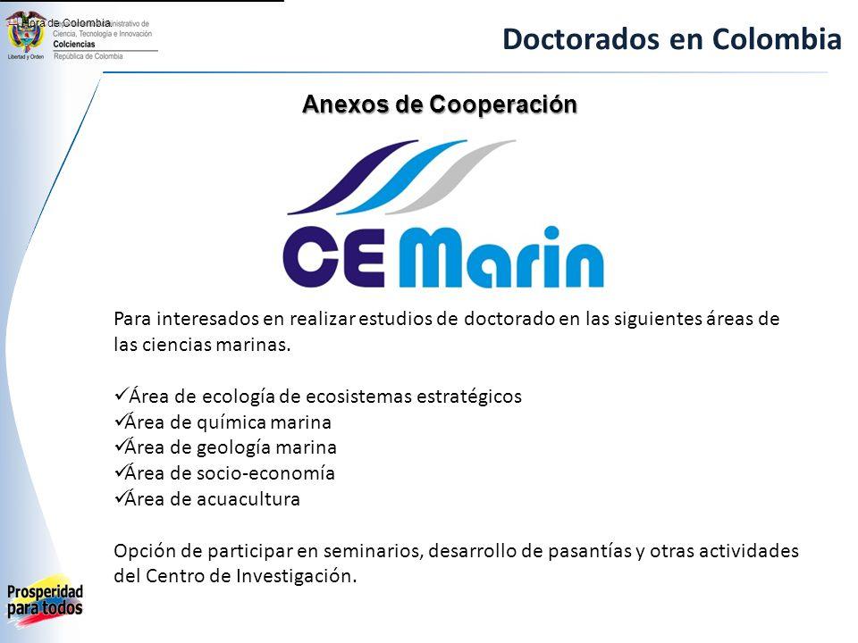 Doctorados en Colombia Anexos de Cooperación [1] Hora de Colombia.