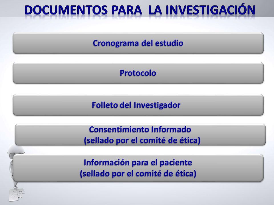 Información para el paciente (sellado por el comité de ética) Información para el paciente (sellado por el comité de ética) Cronograma del estudio Pro