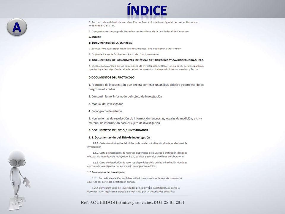 Ref. ACUERDOS trámites y servicios, DOF 28-01-2011