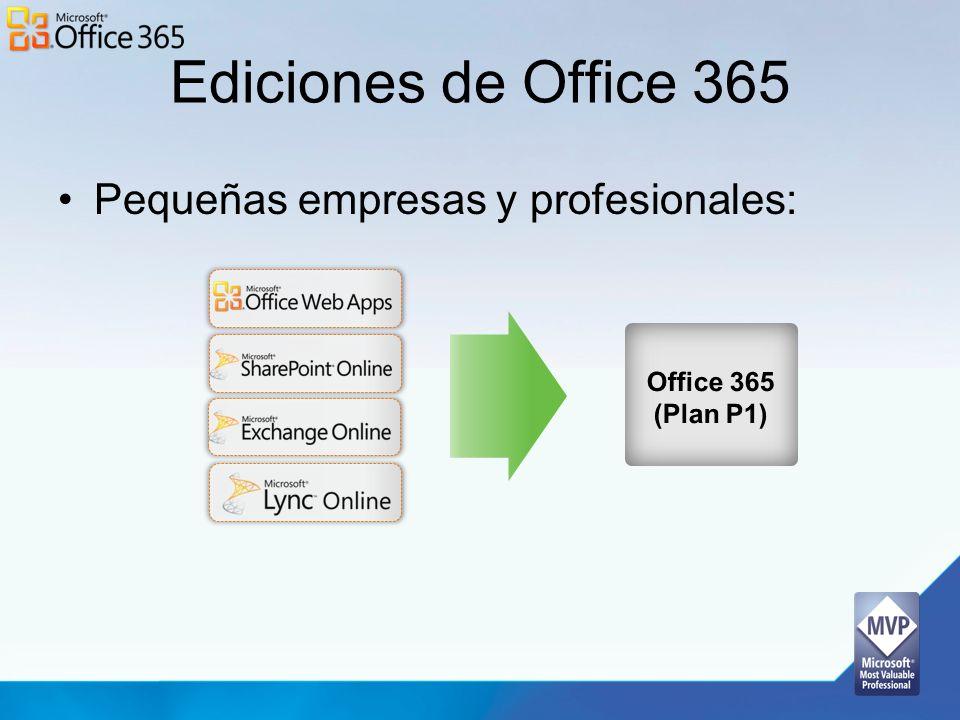 Página de Administración Microsoft Online Services Portal