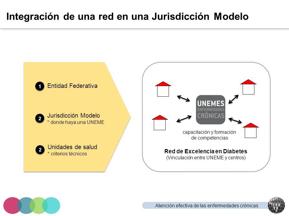 Atención efectiva de las enfermedades crónicas Integración de una red en una Jurisdicción Modelo Entidad Federativa Jurisdicción Modelo * donde haya u
