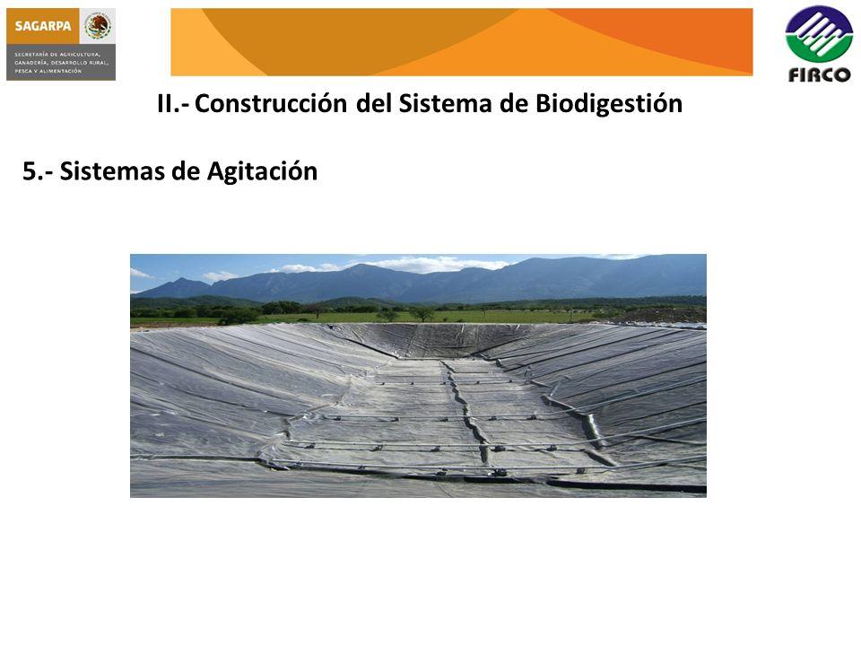 II.- Construcción del Sistema de Biodigestión 5.- Sistemas de Agitación