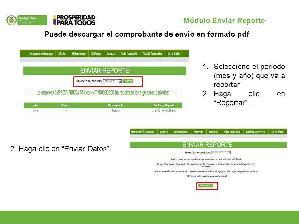 2. Haga clic en Enviar Datos.