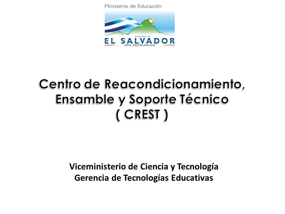 Viceministerio de Ciencia y Tecnología Gerencia de Tecnologías Educativas