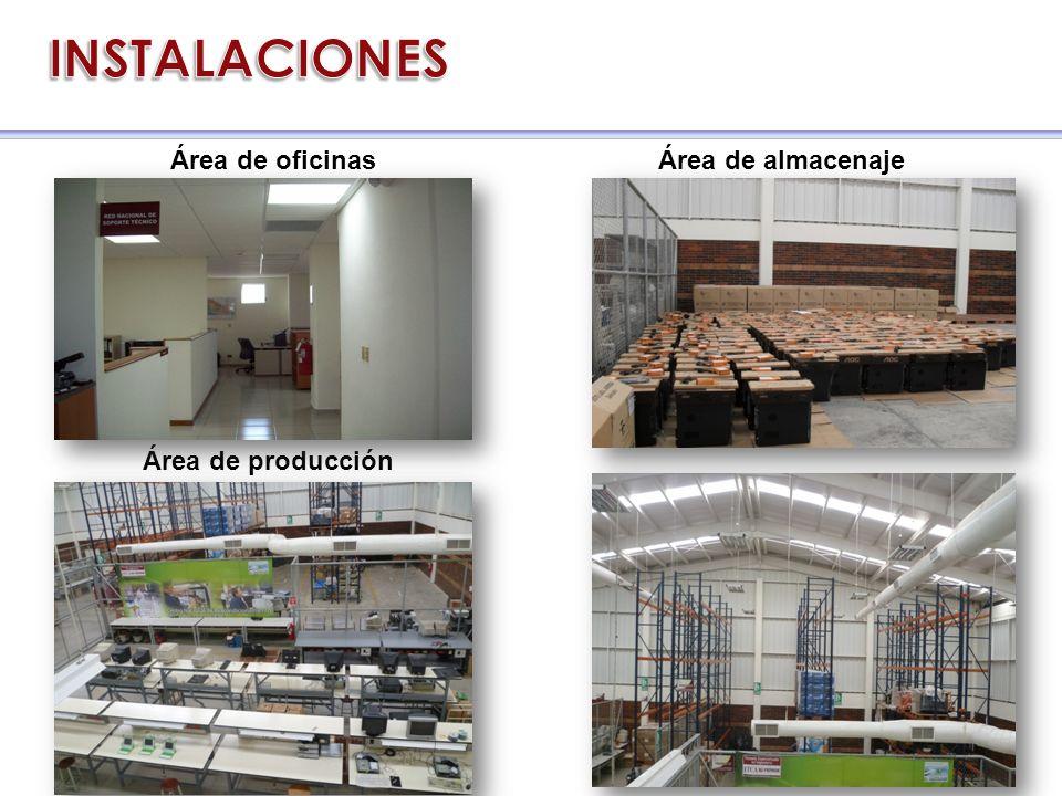 Área de producción Área de almacenajeÁrea de oficinas