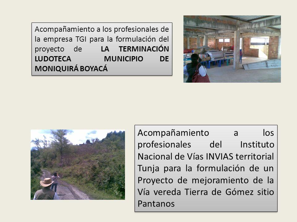 VISITA TÉCNICA PARA FORMULACION DE PROYECTOS