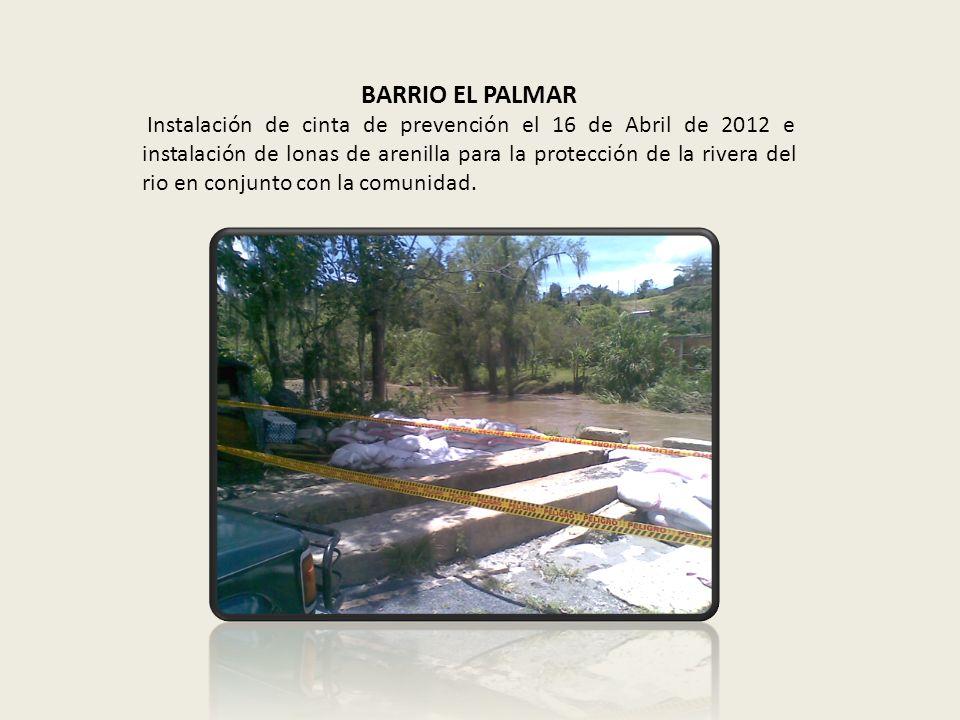 BARRIO PORTALES DEL RIO Instalación de lonas de arenilla para la protección de la rivera del rio con apoyo de la comunidad.