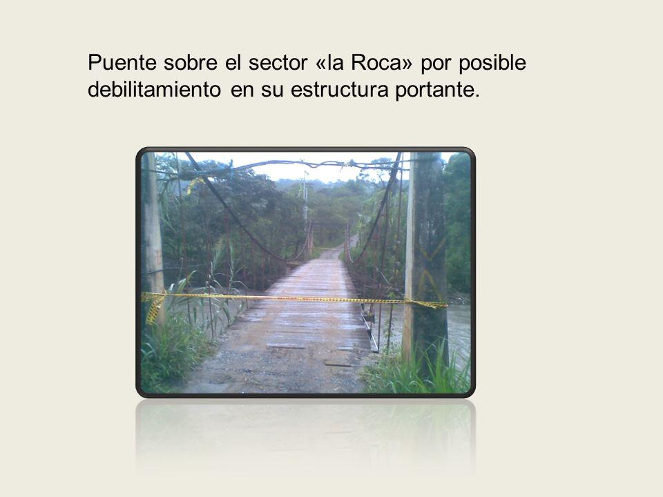 BARRIO EL PALMAR Instalación de cinta de prevención el 16 de Abril de 2012 e instalación de lonas de arenilla para la protección de la rivera del rio