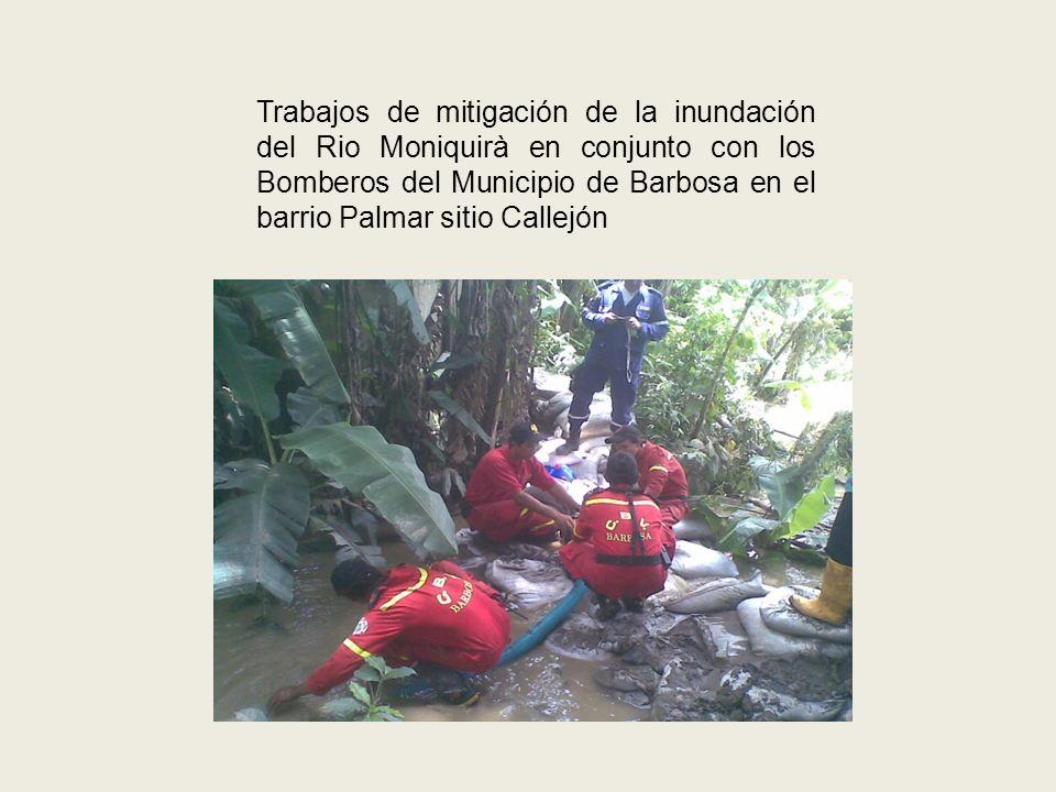 BARRIO LA AURORA Acciones preventivas e instalación de lonas de arenilla para la protección de la ribera del rio.
