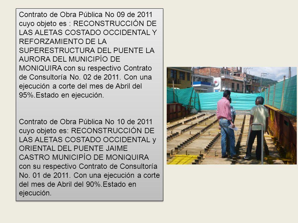 OBRAS DE COLOMBIA HUMANITARIA, SEGUIMIENTO OBRAS ADMINISTRACIÓN ANTERIOR