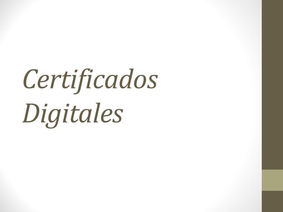Clases de Certificado : Clase 1 : Para individuales, principalmente correo eléctronico.