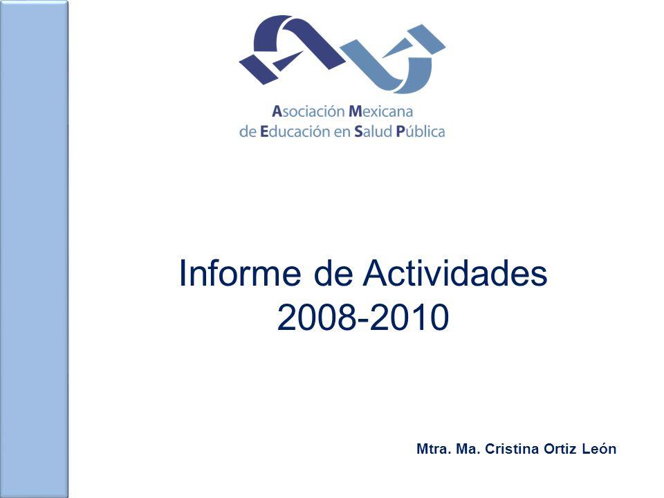 Informe de Actividades 2008-2010 Mtra. Ma. Cristina Ortiz León