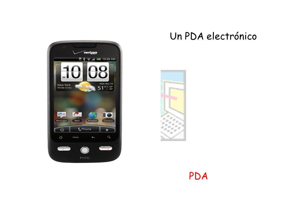Un PDA electrónico PDA