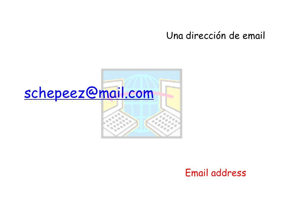 Una dirección de email Email address schepeez@mail.com
