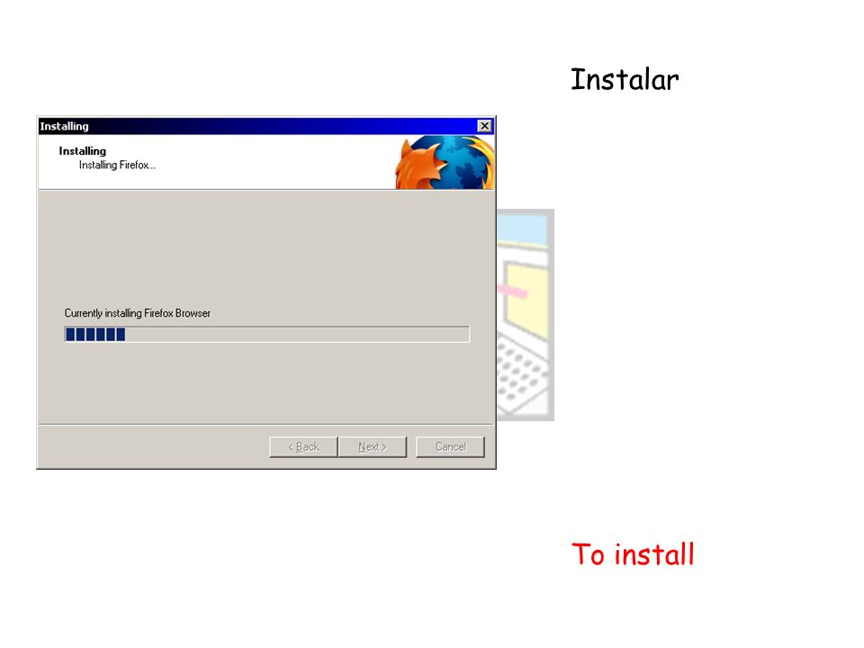Instalar To install