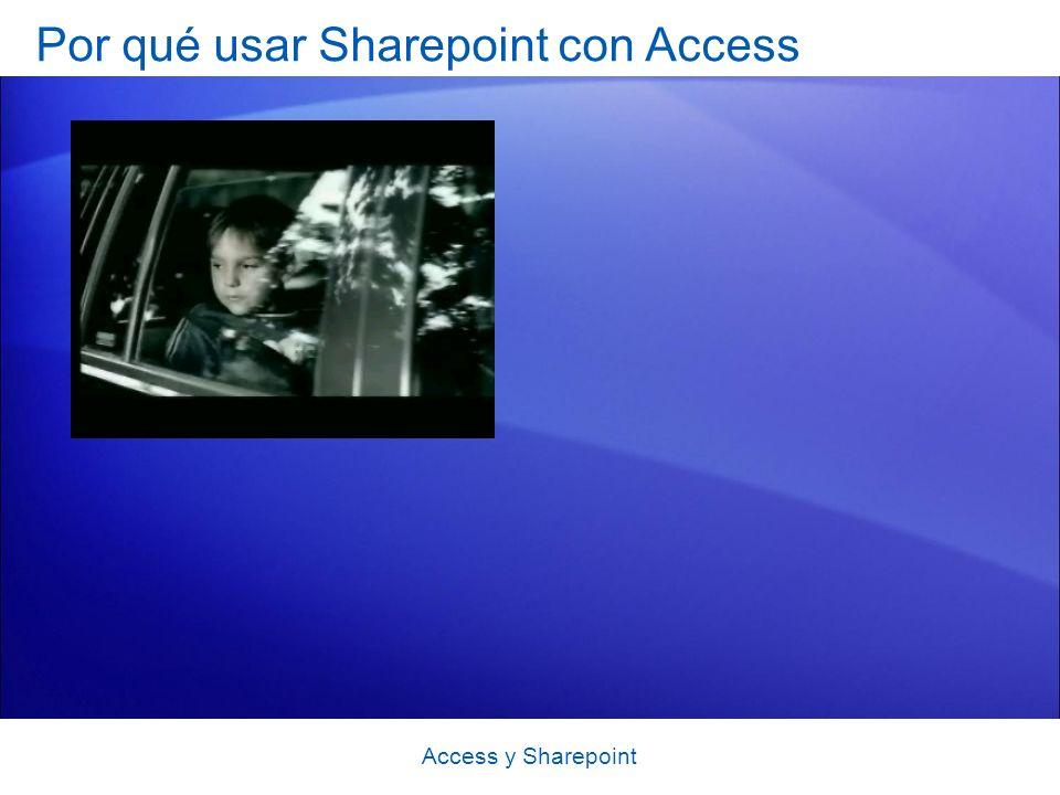 Por qué usar Sharepoint con Access Access y Sharepoint