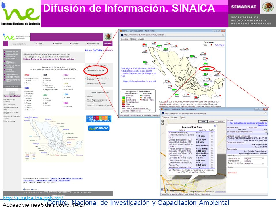Centro Nacional de Investigación y Capacitación Ambiental Difusión de Información.
