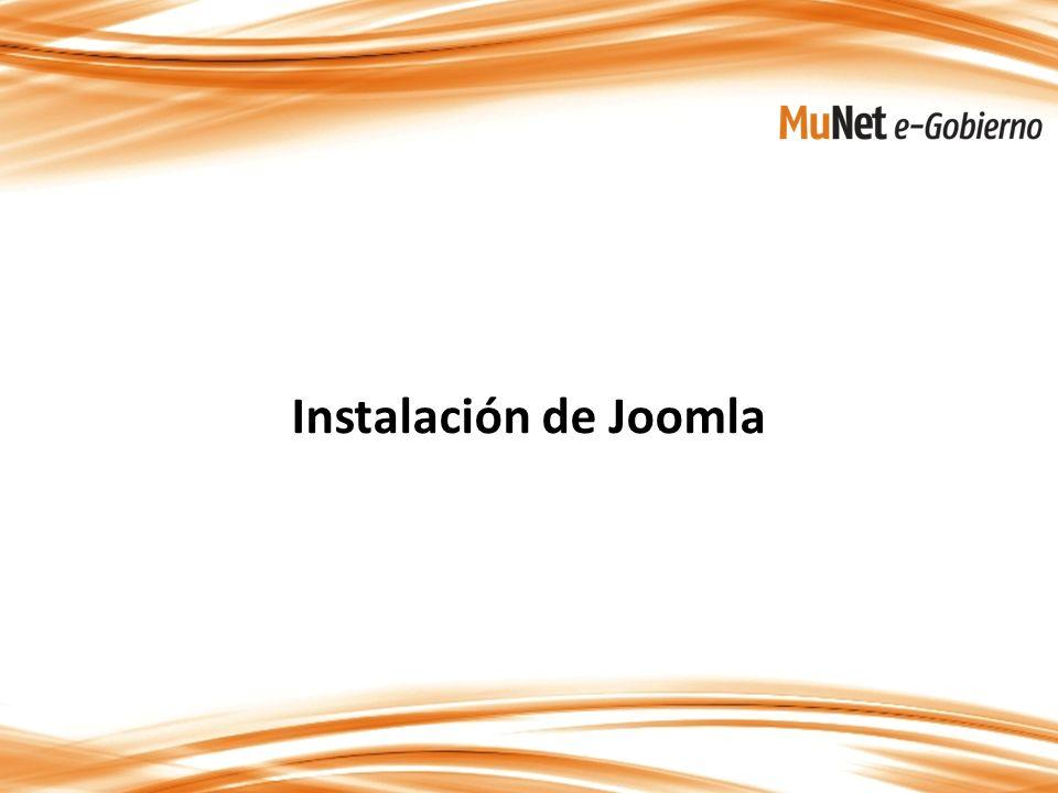 Instalación de Joomla