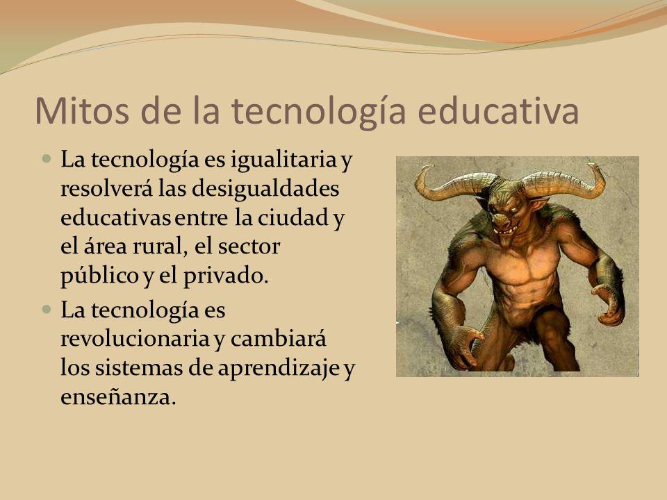 La tecnología es igualitaria y resolverá las desigualdades educativas entre la ciudad y el área rural, el sector público y el privado. La tecnología e