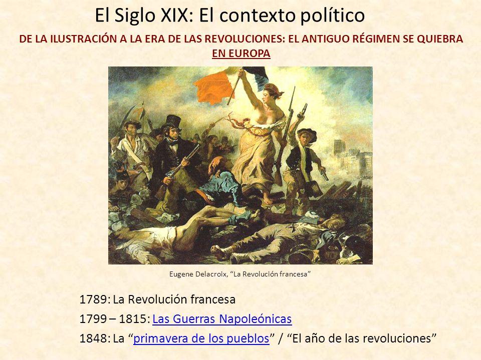 El Siglo XIX: El contexto político DE LA ILUSTRACIÓN A LA REVOLUCIÓN EL ANTIGUO RÉGIMEN MONARQUÍA ARISTOCRACIA IGLESIA Francisco de Goya, La familia d