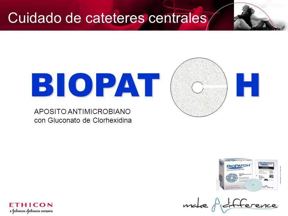 BIOPAT H APOSITO ANTIMICROBIANO con Gluconato de Clorhexidina Cuidado de cateteres centrales
