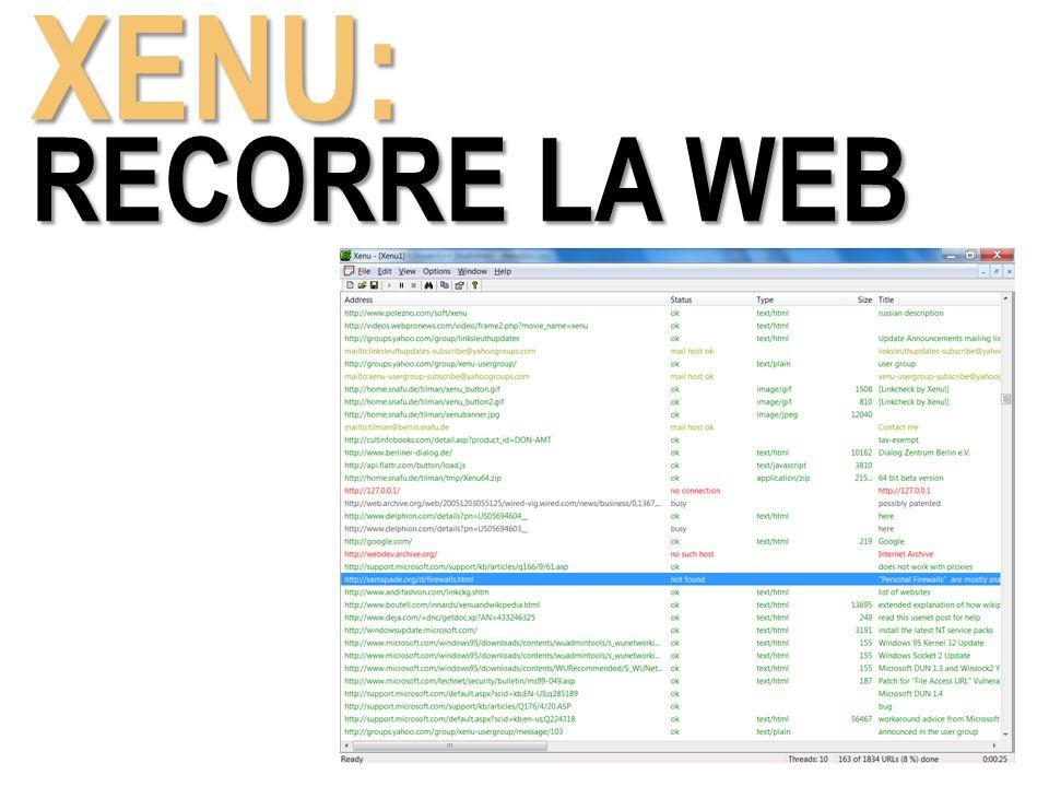 XENU: RECORRE LA WEB