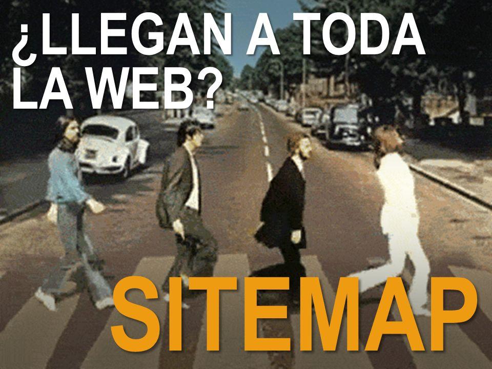 ¿LLEGAN A TODA LA WEB SITEMAP