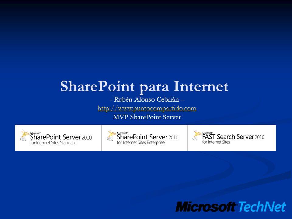 - Rubén Alonso Cebrián – http://www.puntocompartido.com MVP SharePoint Server http://www.puntocompartido.com