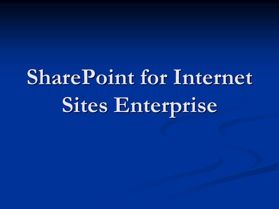SharePoint for Internet Sites Enterprise