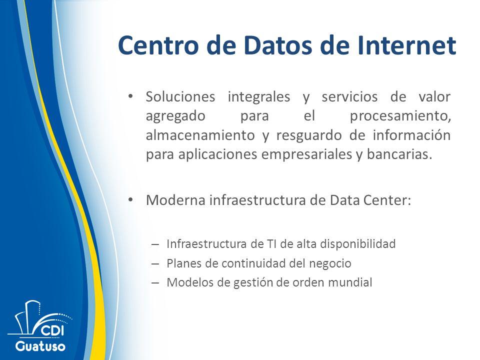 Soluciones integrales y servicios de valor agregado para el procesamiento, almacenamiento y resguardo de información para aplicaciones empresariales y