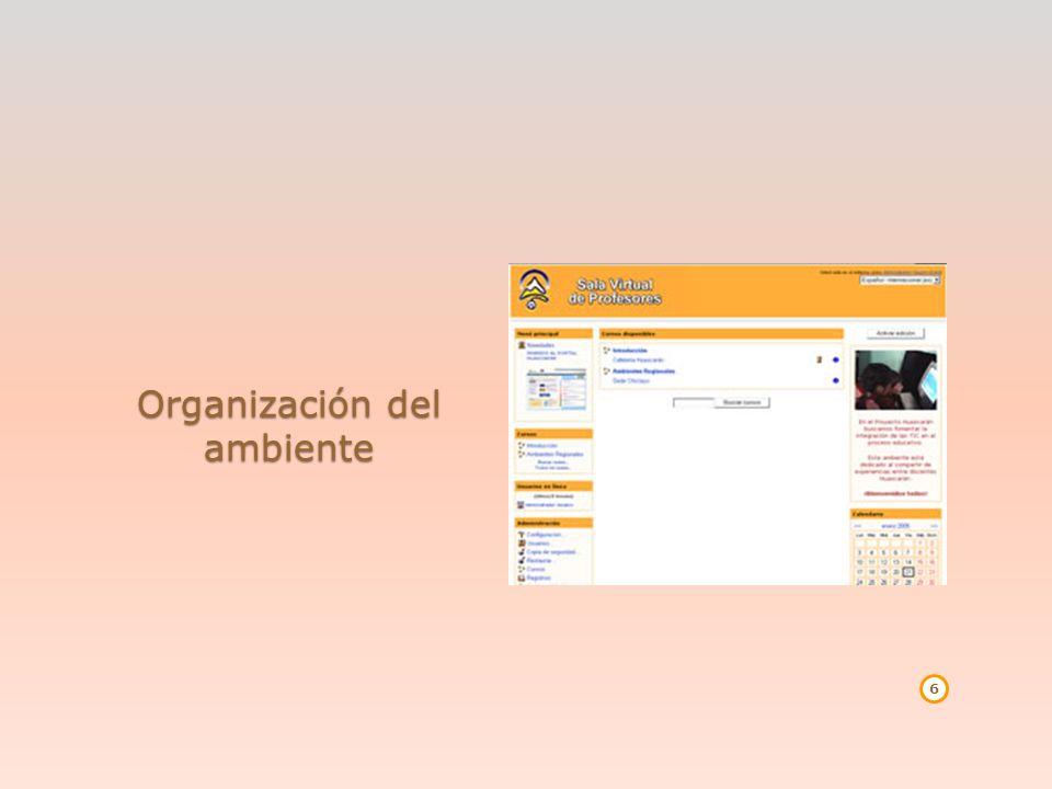 Organización del ambiente 6