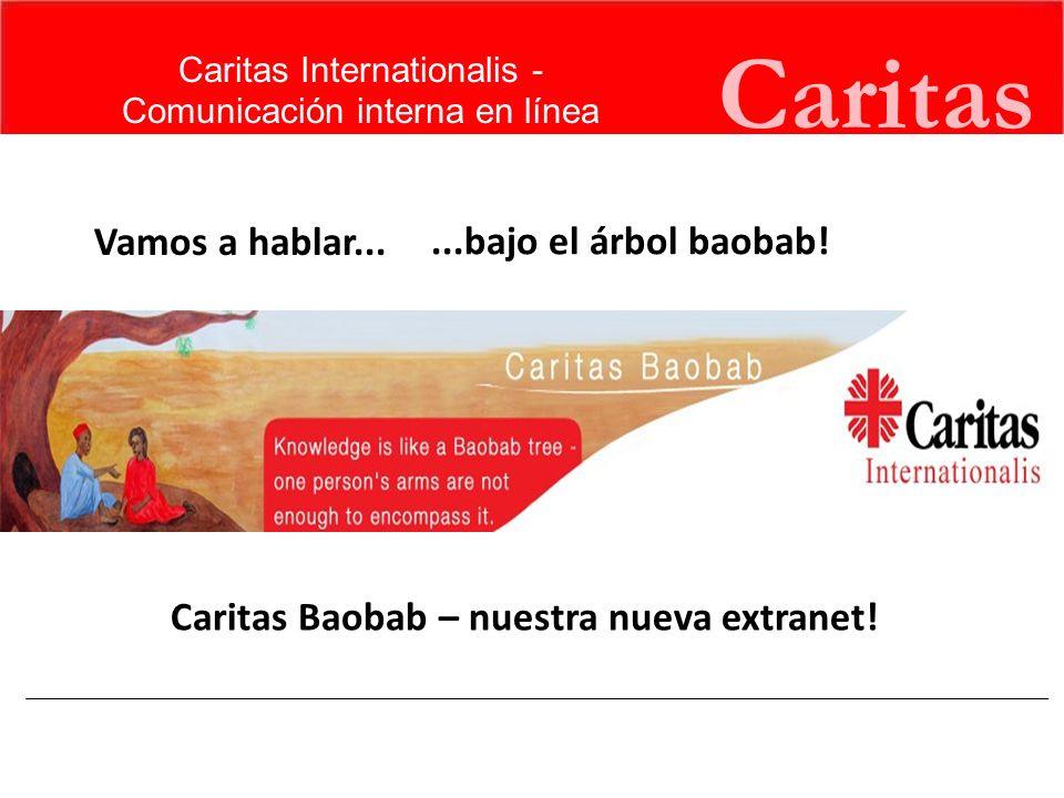 Caritas El conocimiento de la Caritas en el mundo Caritas tiene una riqueza en capacidades humanas y experiencia.