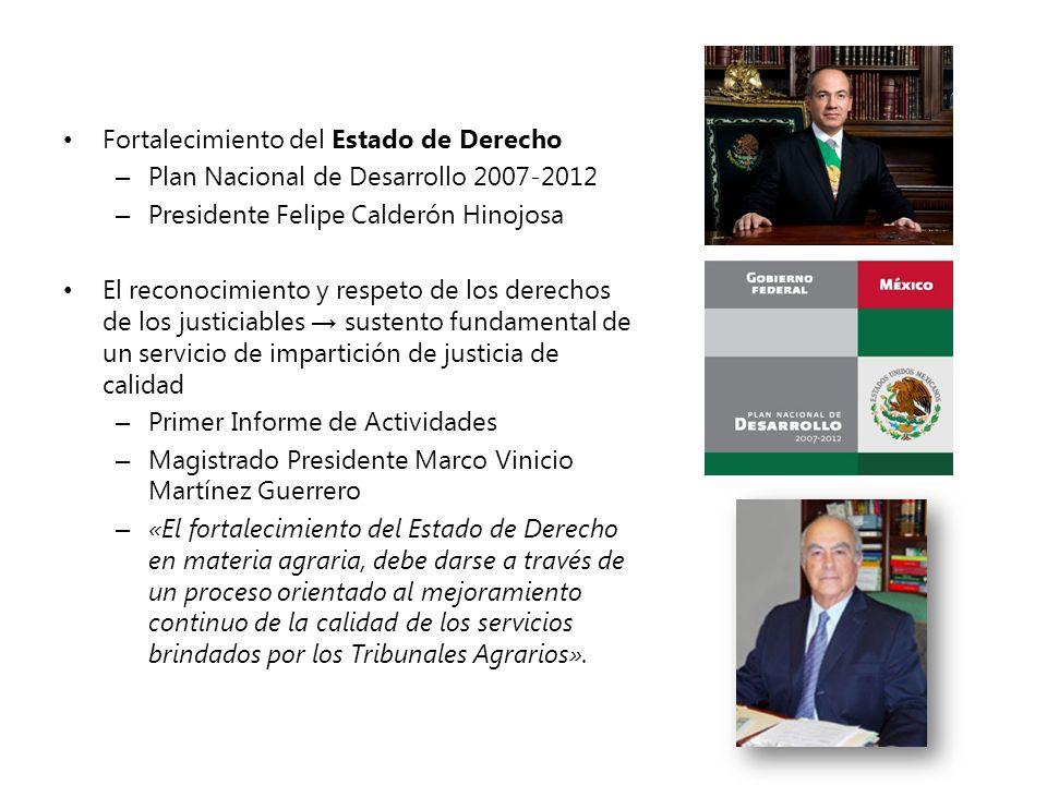 Fortalecimiento del Estado de Derecho – Plan Nacional de Desarrollo 2007-2012 – Presidente Felipe Calderón Hinojosa El reconocimiento y respeto de los