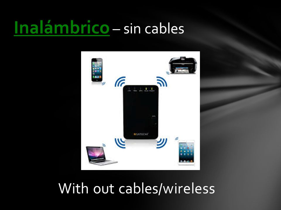 With out cables/wireless Inalámbrico – sin cables